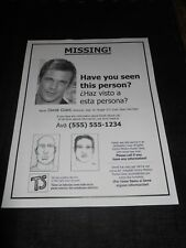 In The Blood Derek (Cam Gigandet) Movie Prop Missing Person Sign for Derek