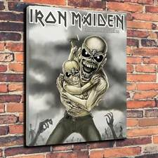 "Iron Maiden Eddie Seventh Son Of A Seventh Son Printed Canvas A1.30""x20"" x 30mm"
