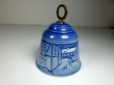 1985 Bing and Grondahl Porcelain Christmas Bell Jule After Denmark No Box Vtg