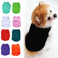 Pet Dog Cat Summer Plain Clothes T-Shirt Puppy Cotton Vest Costumes Fashion