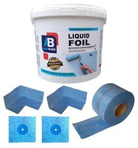 7.5 m² Waterproof Tanking Set Aqua Build Shower Liquid Foil Membrane Seal Kit11
