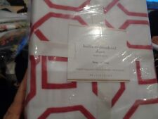 Pottery Barn Hollis embroidered pink King duvet New w tag