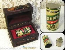 ACCENDINO ANTICO LATTINA BIRRA ISENBECK A BENZINA Antique Petrol Lighter Beer