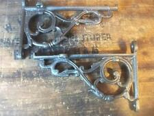 pair Cast Iron Victorian fancy Scroll radiator Shelf Wall Bracket  6 x 4