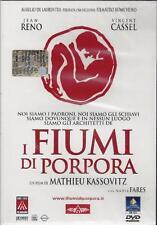Dvd **I FIUMI DI PORPORA 1** con Jean Reno Vincent Cassel nuovo sigillato 2000