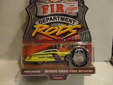 Hot Wheels Fire Department Rods Miami FL. Purple Passion w/Real Riders
