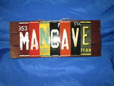 MAN CAVE LICENSE PLATE SIGN PLAQUE