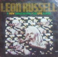 """Leon Russell""  Hand Signed Album Cover JSA COA"