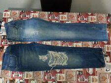 Lotto 119 stock 2 jeans pantaloni donna original creation tg.30