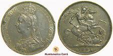 [NC] REGNO UNITO - CROWN VITTORIA 1891 - ARGENTO (nc1553)
