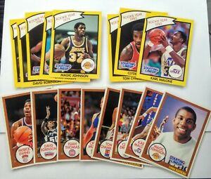 Rare 1990 SLU Rookie Year Card LOT $$ Magic Johnson Karl Malone Isiah Drexler $$