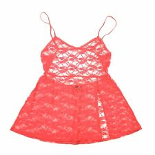 Victoria's Secret Women's Red Open Back Sexy Lace Babydoll Lingerie Size Large