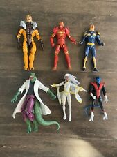 MARVEL LEGENDS ACTION FIGURE LOT OF 6  IRON MAN, THE LIZARD, STROM
