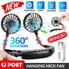 Hanging Neck Fan Travel Portable USB Charging Fan Lazy Creative Sports Fan NEW