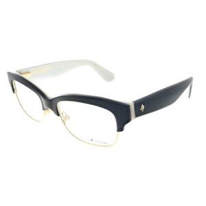 New Kate Spade Shantal QOP Black Plastic Square Eyeglasses 50mm