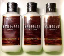3 BATH & BODY WORKS MAHOGANY WOODS FOR MEN BODY LOTION CREAM 8 OZ New Sealed