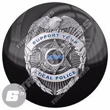 "1 Premium - 6"" 3M Decal Sticker For Car Truck SUV Window Bumper POLICE BLUE LINE"