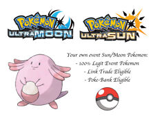 Pokemon Ultra Sun and Moon Event Pokemon Bold Chansey with the special move Wish
