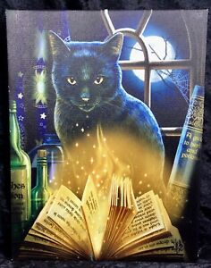 BEWITCHED CAT CANVAS - BLACK CAT - LISA PARKER - FREE UK POSTAGE