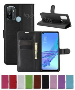 Leather slot wallet stand flip Cover Skin Case For OPPO A53/A32 2020