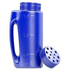 2L Hand Held Spreader in Blue. Adjustable Hole Size for Seed, Fertiliser, Salt t
