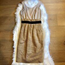 D&G Pale Gold Linen Woven Dress