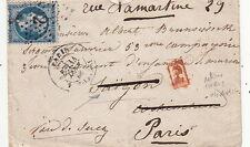 Lettre n°22 Paris pour Saigon Tarif Militaire retour Paris Indochina Asia Cover
