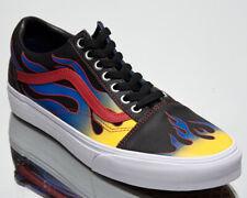Vans Old Skool Unisex para Hombre Mujer Negro Rojo Zapatillas de Skate de estilo de vida bajo Zapatos