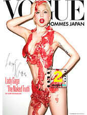 "Lady Gaga 8""x 10""Vogue Cover Signed Color PHOTO REPRINT"
