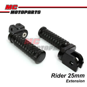 CNC 25mm Extension Front Foot Pegs POLE For Yamaha YZF R3 15-16 15 16 -MC