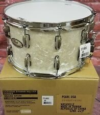 Pearl Session Studio Select Nicotine White Marine Pearl 14x8 Snare Drum - NEW!