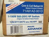ELECTRICAL BALLAST PHILLIPS ADVANCE 71A81A2-001D 150 WATT HP SODIUM 120//277//347V
