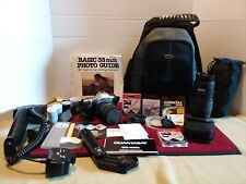Pentax ZX-L 35mm SLR Film Camera w/manual and lots of lenses and filters