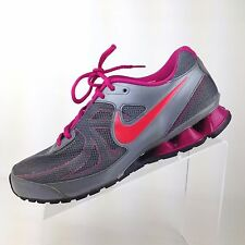 NIKE Reax Run 7 Gray Hot Pink Athletic Sneakers Running Shoes Womens Size 10
