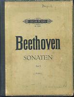 BEETHOVEN ~ Sonaten Band 1 - gebunden