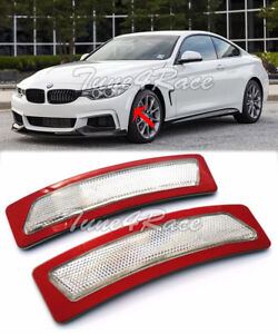 For 14-Up BMW 4-Series F32 F33 F36 Bumper Reflector CLEAR Side Marker Light Lamp
