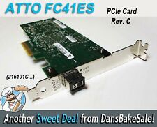 ATTO FC-41ES Rev C Fibre Network PCIe Card 216101C.. in Excellent Condition