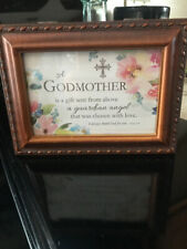 Cottage Garden Wooden Music Jewelry Box A Godmother Is A Gift...