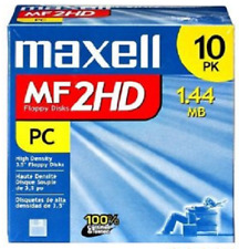 MAXELL 1.44MB FLOPPY DISKS.   DS/HD MF 2HD  3.5 INCH IBM FORMAT.  NEW 10 PACK.