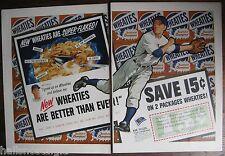 11 Vintage Sports Ads, etc. BEN HOGAN,Bob Feller, Honus Wagner, Otto Graham, etc