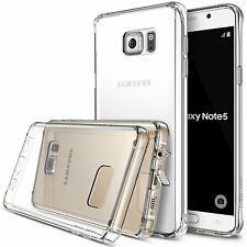 Samsung Galaxy Note 5 New Slim Transparent Crystal Clear Hard TPU Case Cover