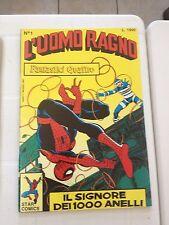 STAR COMICS - L'UOMO RAGNO N.1 IL SIGNORE DEI 1000 ANELLI - RICOPERTINATO OTTIMO