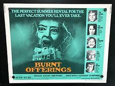 Original 1976 BURNT OFFERINGS Half Sheet Movie Poster 22 x 28 Horror Classic!