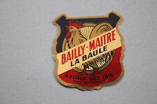 NV Ancien autocollant BAILLY MAITRE La Baule  cycle vélo marque moto  Ibis Coq