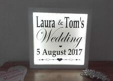 Illuminated Light Up Wedding Sign / Party Sign