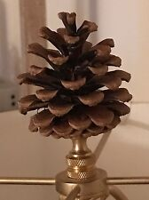 Real Pine Cone Lampshade Finial Handmade One of a Kind