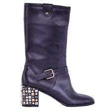 Kniehohe Stiefel aus Echtleder mit hohem Absatz (5-8 cm) für die Freizeit