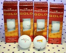 12 Pinnacle Gold Longer Distance Golf Balls Stamped Sonic Logo 4-Sleeves NEW
