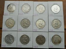 GROUP OF 12 MIXED 90% SILVER HALF DOLLARS- SEATED, WALKER, FRANKLIN & KENNEDY