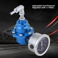 Auto Regolatore Di Pressione Benzina Manometro Gauge 0-8 KG/CM² 160PSI 1:1